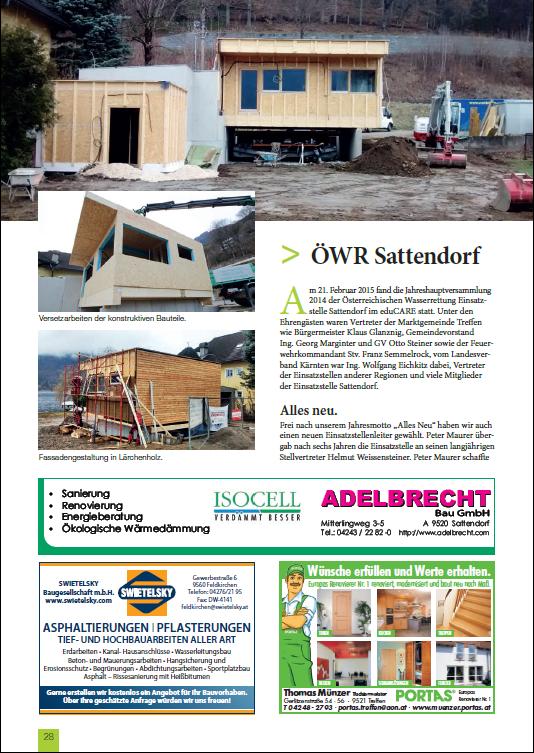 Bericht Gemeindezeitung April 2015