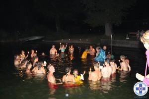 Abschluss des Rettungsschwimmerkurses mit anschließender Grillerei und Neptunstaufe