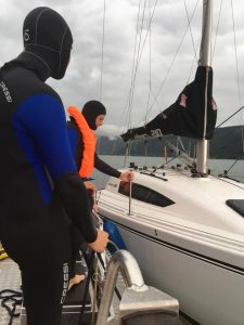 Bergung des Bootes
