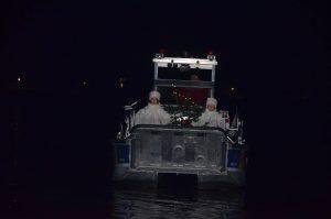 Ankunft des Bootes mit den Engeln